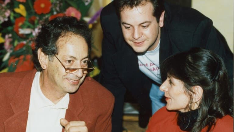 Irvin Rockman (left) at Palmers Restaurant at Rockman's Regency in 1993.