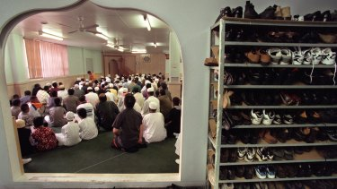 Muslim community celebrates the end of Ramadan at the City Mosque.