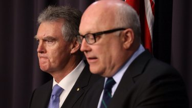 Rushed through anti-terror legislation that could be unnecessary and even counter-productive: Director-General of ASIO Duncan Lewis and Attorney-General George Brandis.