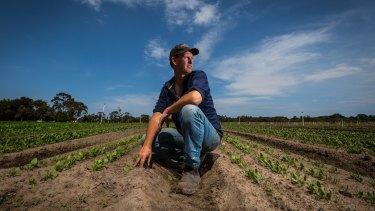 Wayne Shields runs Peninsula Fresh Organics market garden at Baxter.