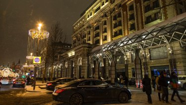 The Ritz-Carlton hotel in Moscow where Donald Trump stayed in 2013. Despite saying he wanted to build a Trump tower in Russia, Trump never completed a deal in the country's booming but volatile real estate market.