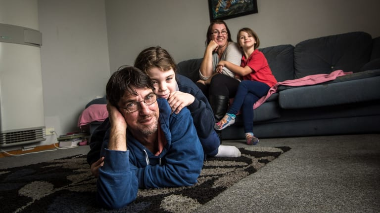 Duncan Storrar with his daughter Indica, wife Cindy-Lee and daughter Jakalah-Rose.