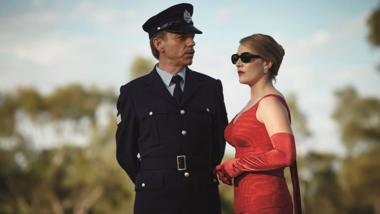 Kate Winslet and Hugo Weaving in <i>The Dressmaker</i>.