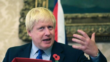 Britain's Foreign Secretary Boris Johnson has talked his way into trouble yet again.
