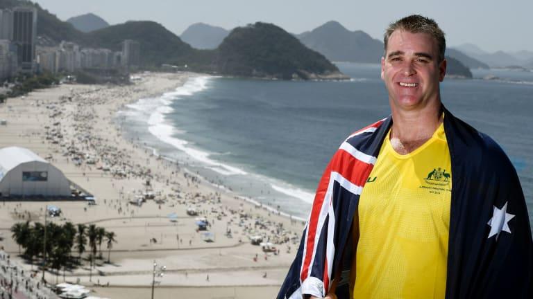 High honour: Wheelchair basketballer captain Brad Ness in Rio.