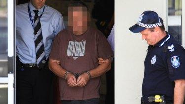 Richard Thorburn in police custody, before his collapse.