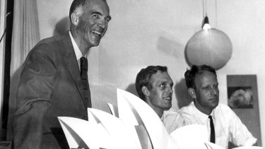 """Opera House architect Jorn Utzon, pictured in 1966, said: """"One of the great features of the Opera House is ... the fluidity of people's movements through the house, and once you clutter this you have a problem."""""""