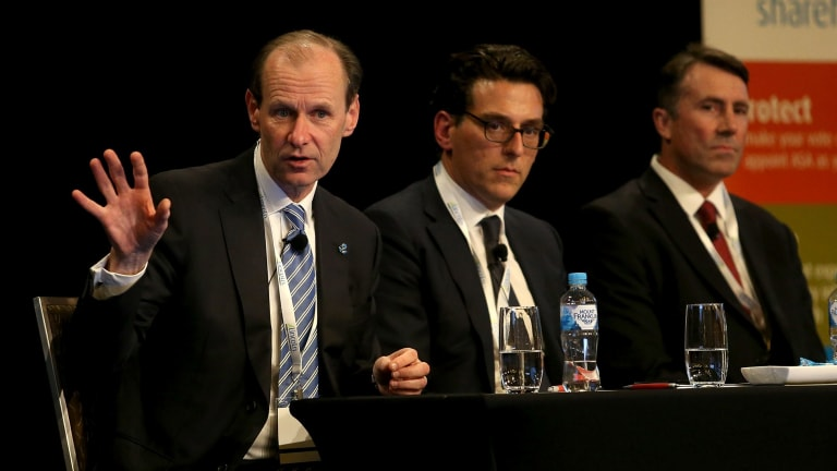 Shayne Elliott (left), chief executive at ANZ Bank, is among those fighting the tax.