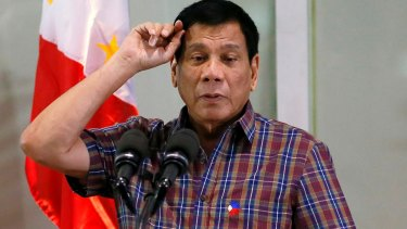 """You must be respectful. Do not just throw questions"": Philippines President Rodrigo Duterte."