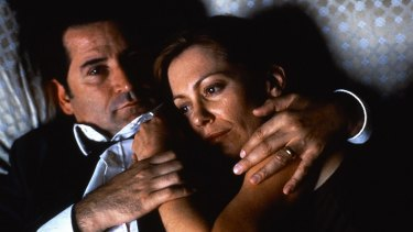 Kerry Armstrong with Anthony LaPaglia in <i>Lantana</i>.