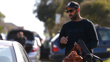 Centre of the storm:  Sydney Swans player Adam Goodes in Sydney on Wednesday.