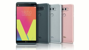 The V20 is a huge phone with a lot of features.