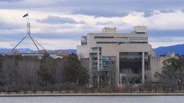 The High Court building in Canberra.