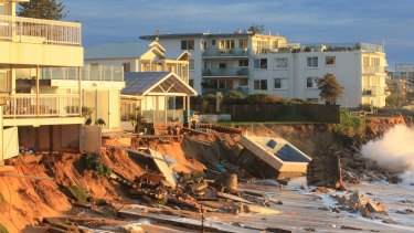 Collaroy beach front after last June's huge east coast low.