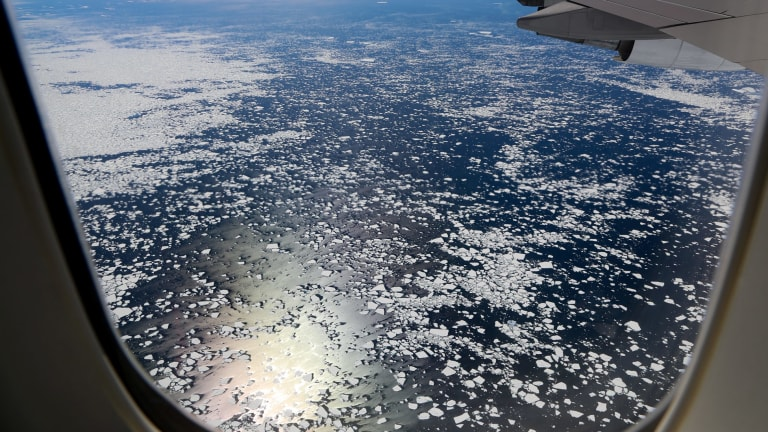Warming waters are melting the Antarctic ice sheets from below.