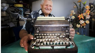 Zeljko ''Tom'' Koska has worked as a typewriter repairman and retailer in  Elgin St, Carlton, since 1966.