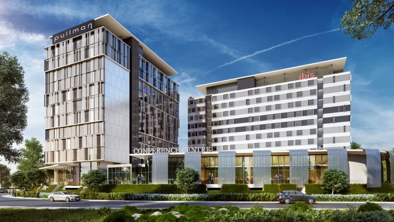 An artist's impression of the hotels.