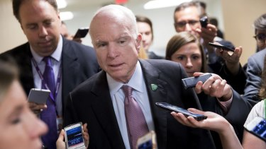 """""""The latest attacks against the FBI and Department of Justice serve no American interests"""": Senator John McCain."""