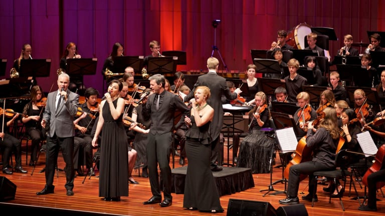 The Idea of North performing with the Canberra Youth Orchestra.
