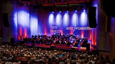 The Canberra Youth Orchestra at the first of its 50th anniversary concerts.