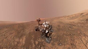 NASA's Curiosity Mars rover on Vera Rubin Ridge.