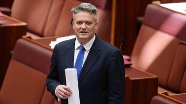 Bill queried: Finance Minister Mathias Cormann.