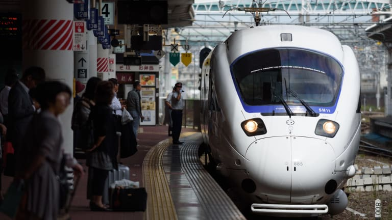 Express trains in Japan can travel at speeds of up to 320km/h.