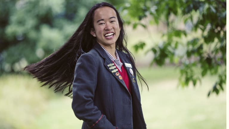 Cultural change: Margaret Tran has been named this year's winner of the Newsboys Foundation's new $5000 youth leadership award.