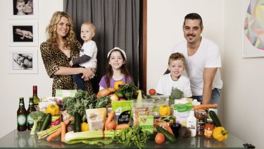 Going green: Amanda Brewer gave her kitchen a shake-up last year when she introduced her family to a 100 per cent vegan diet.