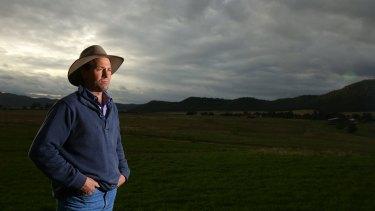 Farmer Stuart Andrews, on his farm Tarwyn Park near Bylong, where South Korea's Kepco wants to build an open-cut mine.