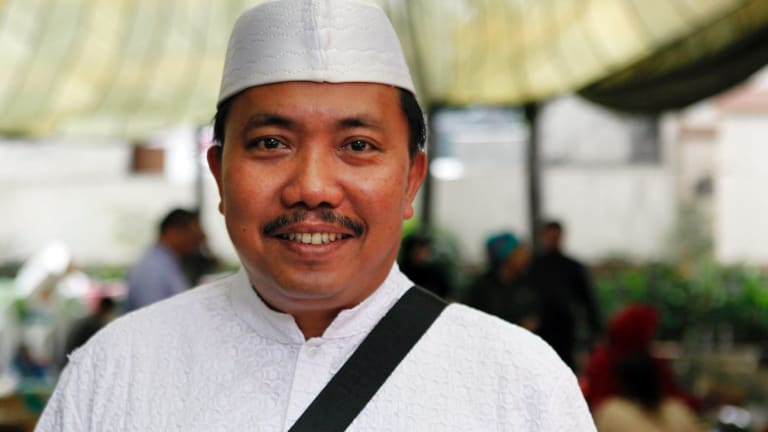 Dr Ratman, whose organisation is feeding protesters outside the Istiqlal Mosque in Jakarta.