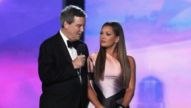 Miss America Former CEO Sam Haskell III and Vanessa Williams speak onstage during the 2016 Miss America competition.