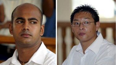 Executed: Australians Myuran Sukumaran and Andrew Chan.