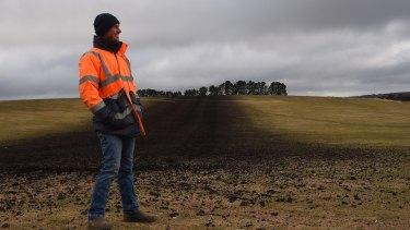 Farmer Stuart Kelly is making use of biosolids on paddocks on family property Ferndale in Newbridge, NSW.