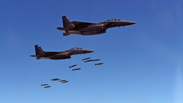 South Korean F-15 fighter jets. US stealth fighter jets on Thursday joined jets from South Korea and Japan in a live-fire drill over the Korean Peninsula.