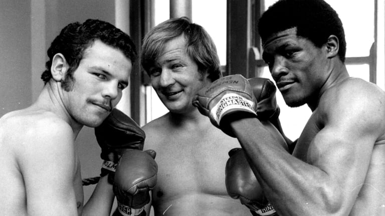Fighting chance: Tommy Raudonikis (centre) has been given a one in three shot at recovering from cancer of the neck.