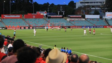 Empty house: The Red and Black Bloc stayed away from the Wanderers' home game against Brisbane on Saturday night.