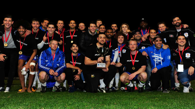 Big stage: Olympic FFA Cup qualifying final Winners Canberra Olympic.