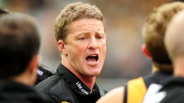 Five years ago: Damien Hardwick coached the Tigers to 12th place in 2012.