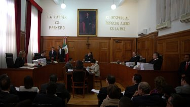 Mexico Supreme Court Justices discuss  on Wednesday a challenge to the constitutionality of a ban on recreational marijuana use.