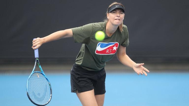 """""""Incredibly special"""" to be back: Maria Sharapova."""
