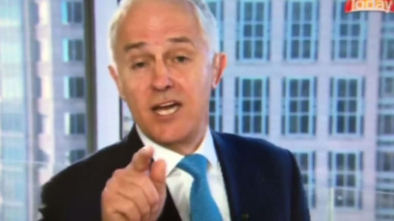 Malcolm Turnbull interviewed on Nine's Today show.