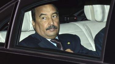 Mauritania's President Mohamed Ould Abdel Aziz.
