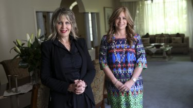Debbie Wiener (left) and Sheiny New, spokeswomen for the Jewish Taskforce Against Family Violence and Child Sexual Abuse.
