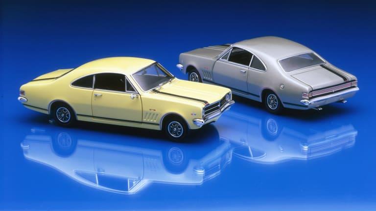 Holden's 1968 HK Monaros are honoured in the Good Design Awards showcase.