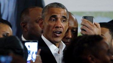 Former president Barack Obama in May.