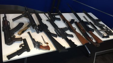 Illegal firearms seized by police in Victoria.