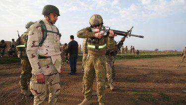 Australian troops are training Iraqi soldiers for the fight against the so-called Islamic State.