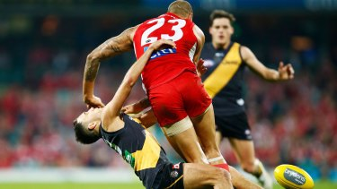 Lance Franklin will miss the game against Port Adelaide.