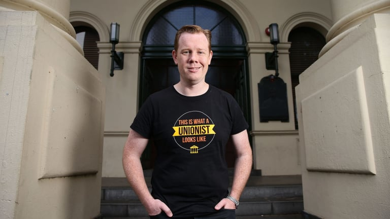 Passion power: New Trades Hall secretary Luke Hilakari.
